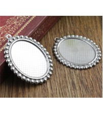 ( Never Fade ) 10pcs 18x25mm Inner Size Stainless Steel Material Simple Style Cabochon Base Cameo Setting Pendant Tray (T7-39)