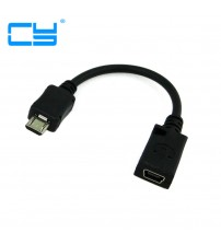 0.1M 10cm Mini USB Female to Micro USB Male Connector Adapter Cable for phones MP3 MP4