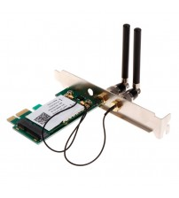 1 Set 300M PCI-E X1 X16 PC Computer 2.4/5GHz Dual Band Wireless Desktop WIFI WLAN Card New