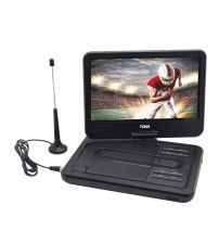 "10"" TFT LCD Swivel Screen Portable DVD Player with TV, USB/SD/MMC Inputs"