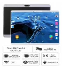 10 inch 3G 4G LTE tablet pc Deca Core 4GB RAM 128GB ROM 1920x1200 IPS 8.0MP GPS Bluetooth 10 10.1 Tablets 10 Cores+Gifts