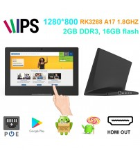 10 inch desktop commercial android POE tablet pc (1980*1080,Rockchip3288, 2GB DDR3, 16GB flash, USB, HDMI out, wifi, RJ45)