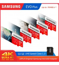 100% Original SAMSUNG micro sd 128gb EVO Plus Class10 U1 32GB U3 64GB 256GB  516GB memory Card MicroSD  for Smartphone TabletPC