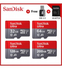 100% Original Sandisk micro sd card Class10 TF card16gb 32gb 64gb 128gb memory card for phone and table PC with adapter gift