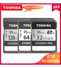 100% Original Toshiba exceria pro  N401 SD flash card SD memory card UHS-I U3 32GB 64GB 128GB Class10 4K Ultra HD SDHC SDXC