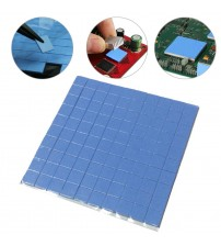 100 Pcs/Set Thermal Pad GPU CPU Heatsink Cooling Conductive Silicone Pad 10mm*10mm*1mm Size for Laptop Notebook #17