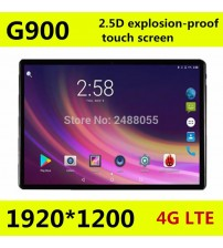 10.1 inch Octa core tablet pc G900 2.5D screen Android 8.0 3G 4G LTE Dual SIM 1920*1200 IPS 4GB 128GB wifi Bluetooth tablets