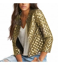 Gold Sequins Blazer Jackets