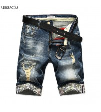 AIRGRACIAS Ripped Jeans Clothing Bermuda Summer