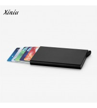 Card Holder Stainless Steel Silver Aluminium