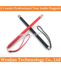 10pcs/lot 1.2m professional tour guide flagpole1.2 meter stainless steel flagpole telescopic pointer pointer teaching