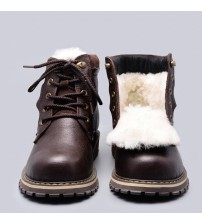 Natural Wool Winter Boots