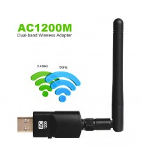 1200Mbps Wireless WIFI Adapter USB3.0 Dual Band 802.11acbgn AC Antenna Gigabit WiFi Superspeed Card for Laptop Desktop Computer