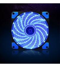120mm pc computer fan 15 Lights LED Cooler Cooling Fan Plastic 12V DC 4P 3P 120*120*25mm Easy Installed Colorful Computer Fan