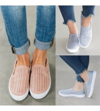 Cut-outs Elastic Band Vulcanized Shoes