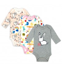 3 pieces/lot 100% Cotton Baby Bodysuit