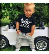 Boy Clothes Short Sleeve T-shirt Tops +Pants