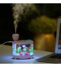 Air Humidifier 460ml Humidifiers LED Light