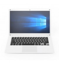14.1 inch IPS Ultra-Thin Laptop Z8350 2G+32G Office Notebook Quad-Core 1.92GHz Windows 10 Computer Mini-HDMI Bluetooth 4.0 WiFi