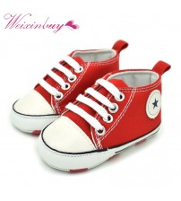 Canvas Crib Baby Sneaker Shoes