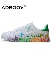Ink Painting Style Men's Shoes