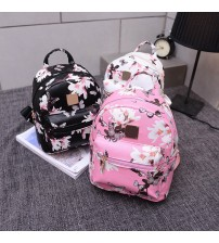 Floral Backpack Rucksack Shoulder School Bag