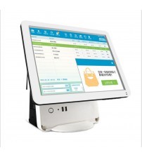 15 inch POS all in one two screens restaurant pos systerm