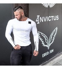 Bodybuilding Long Sleeve Personality Tee Tops