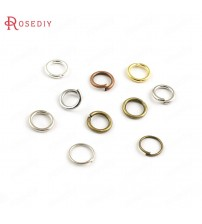 (16711)50g Diameter 4MM 5MM 6MM 7MM 8MM Thickness 0.7MM~1.2MM Iron Connect Rings Jump Rings Split Rings Jewelry Accessories