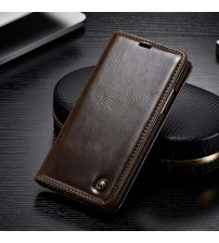 Leather Magnet Auto Flip Wallet Case
