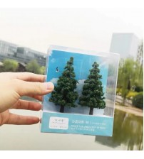 1:87HO Scale 2/PACK Realistic Model Pine Trees landscape model train railway layout scenery dioramas DIY gaming miniature models