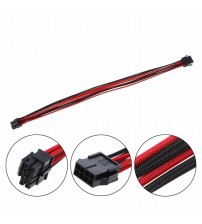 1Pc CPU 8Pin ATX CPU Power Supply Female to Male Power Extension Cable Black Red Sleeved Cables 40cm C26
