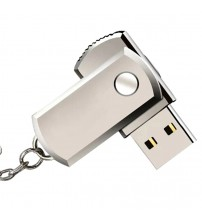 1pc Stainless Steel USB 2.0 Pen Drive 1gb 2gb  Usb Flash Drive Pendrive Usb Stick Flash Drive With Keychain Thumbdrive