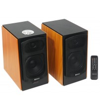 (2) Speaker Home Theater System For Sharp HDTV Television TV - Wood Finish