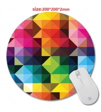 200*220*2mm  DIY colorful Round Rubber Gaming Mouse Mat Custom Your Styles Non-slip and Durable Computer and Laptop Mouse Pad