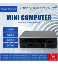 2018 Eglobal Kaby Lake R 8th Gen Mini PC Win Intel Core i7 8550U / i5 8250U UHD Graphics 620 5G AC Wifi Mini DP Desktop Computer