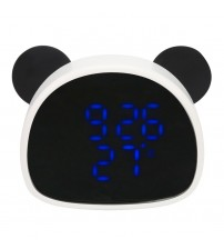2018 New LED Mirror Alarm Clock Voiced-Activated Digital Electronic Clock Built-in 6 Sets of Different Alarms with Makeup Mirror