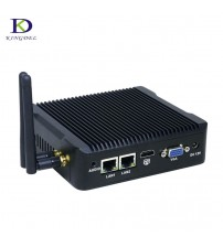 2018 Newest Mini PC 2 Lan Intel Celeron Quad Core J1900 2.0GHz Fanless Computer with 2*RTL 8111E LAN linux Embedded PC for Kiosk