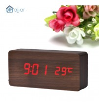 2019  Voice Temperature Display Sounds Control Electronic Desktop LED Alarm Clock RD Dropshiping Feb25