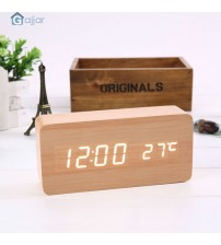 2019  Voice Temperature Sounds Control LED electronic desktop Digital Alarm Clock Dropshiping Feb25