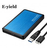 2.5 inch  USB3.0 to Sata  HDD Case Tool Free Support 6TB UASP Protocol Hard Drive Enclosure Aluminum & ABS Material