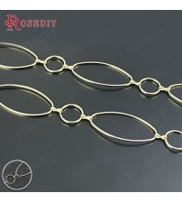 (25154)1 Meter Round and Oval Closed Rings Link Chains Brass Chains Handmade Necklace Chains Diy Findings Accessories Wholesale