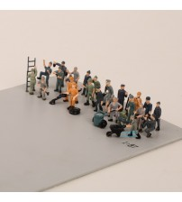 27PCS 1:87 HO Scale Model railway Workers landscape model train railway layout scenery DIY  miniature dioramas display gaming