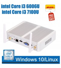 3 Year Warranty Fanless Mini PC 4K HTPC Nettop with Intel Core i3 6100U HD Graphic520 4G DDR3 RAM 128G SSD Windows 10 micro pc