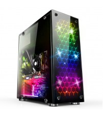 38.5*18*42cm DIY Gaming Computer PC Case ATX full side transparent Glass Panel water cooling Desktop Mainframe Chassis