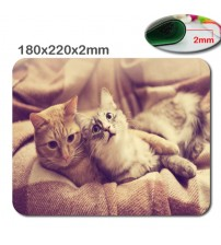 3D print rapid high definition DIY Funny cat rubber gaming Mouse Pad size is 180  * 220  * 2 mm Computer and Laptop Mouse Pad
