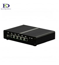 4 LAN Fanless Mini PC Intel Celeron J1900 CPU Quad Core HTPC with VGA Windows 7