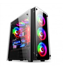 452*208*495MM E-ATX DIY Gaming Computer PC Case Side  transparent Glass Panel water cooling Desktop Mainframe Chassis