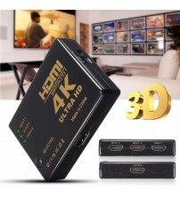 4K*2K 3-Port HD MI 3in 1out Switch Splitter 3D Full HD 1080P TV Switcher Box Adapter Ultra HD for HDTV DVD Xbox H dmi Switch 360 PC + Wireless Remote