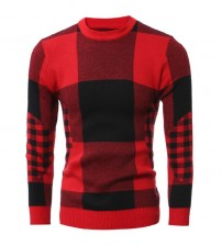 Classical Plaid Pullover Sweater For Mens